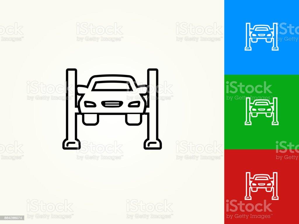 Car Repair Black Stroke Linear Icon royalty-free car repair black stroke linear icon stock vector art & more images of black color