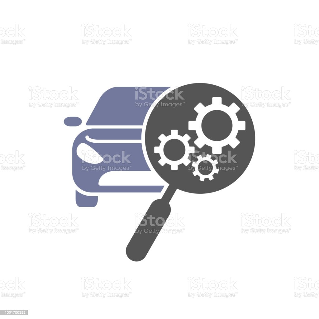car repair icon automotive and transportation logo template stock