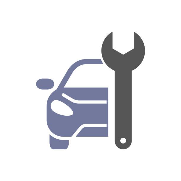 Car repair icon vector art illustration