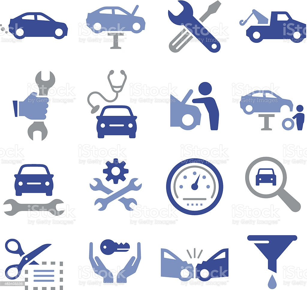 Car Repair Icons - Pro Series vector art illustration