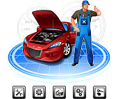 Car repair mechanic