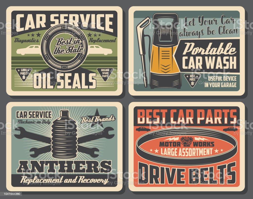Car Repair Service Auto Parts Shop Stock Vector Art More Images Of