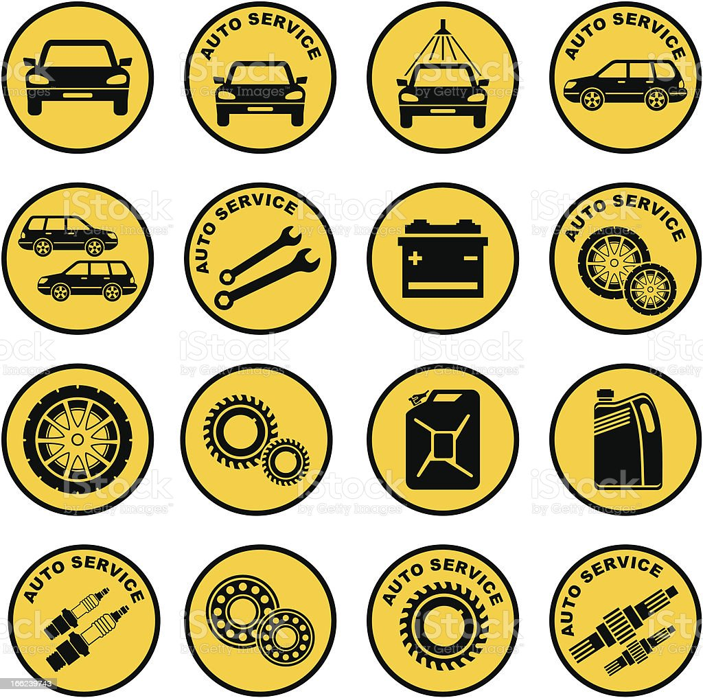 Car repair service icon royalty-free stock vector art