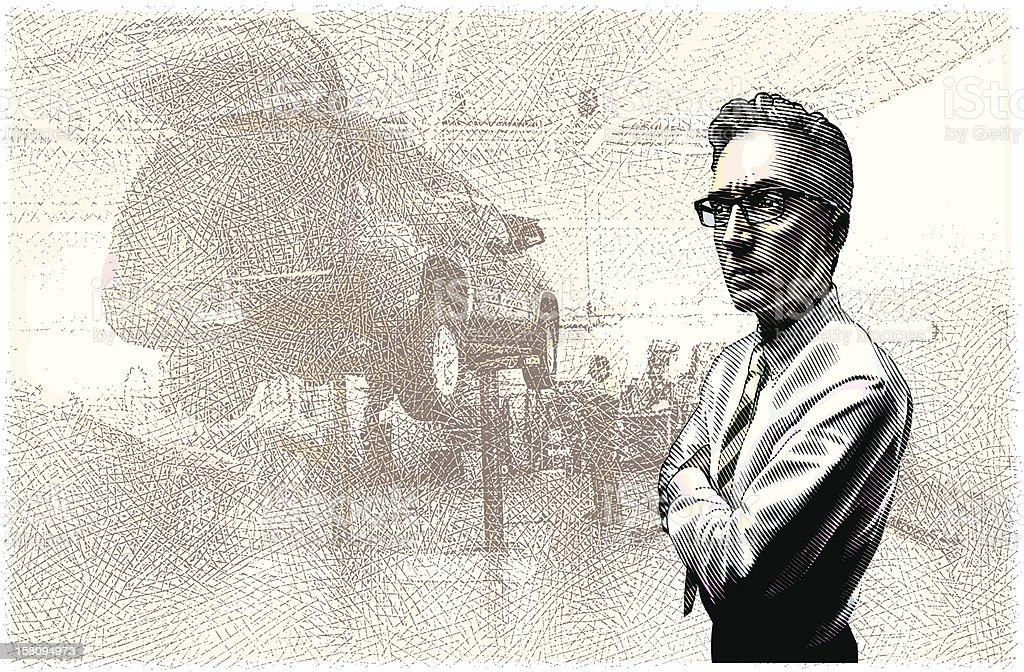 Car Repair Shop vector art illustration