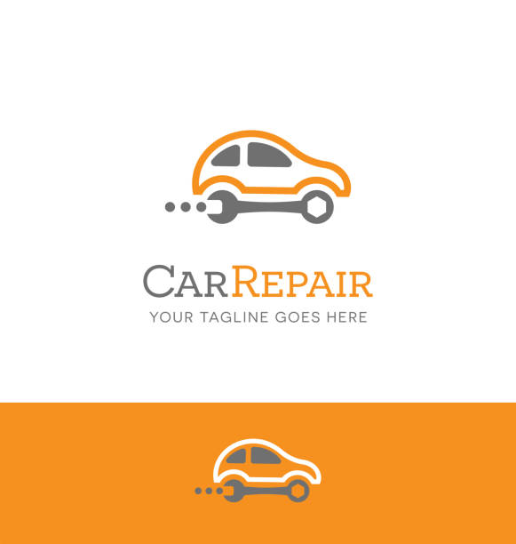 Car repair symbol. Simple icon for use with your business. Vector illustration. vector art illustration