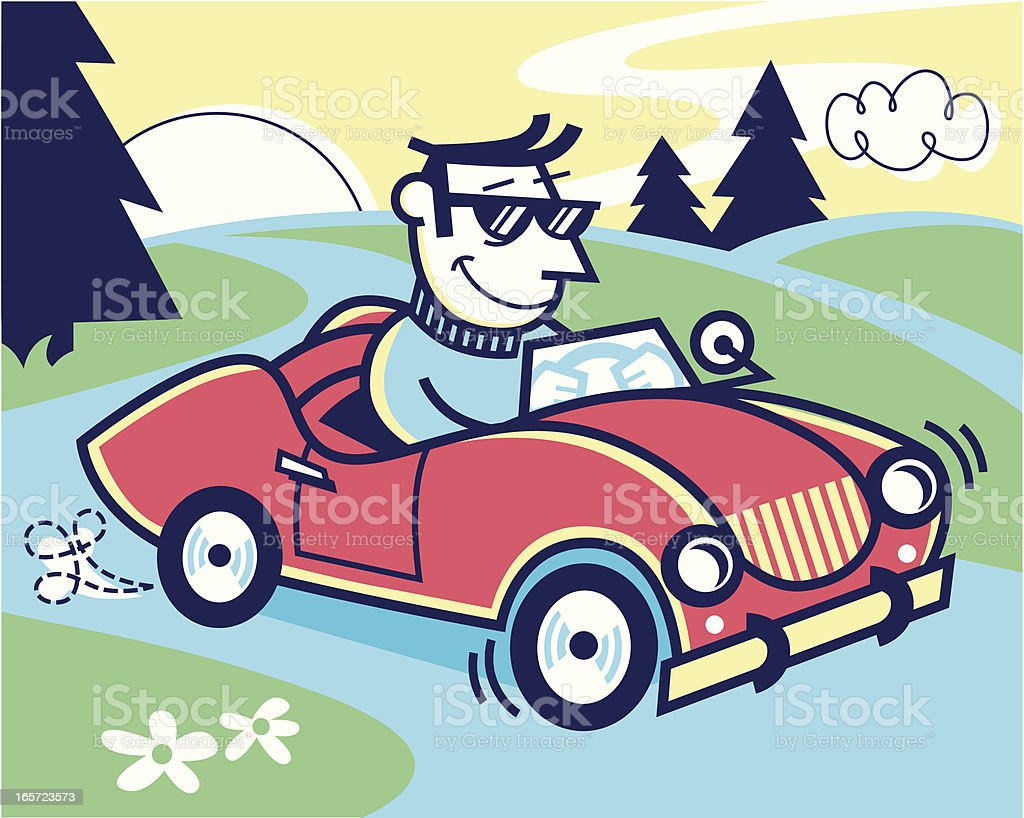 car ride vector art illustration