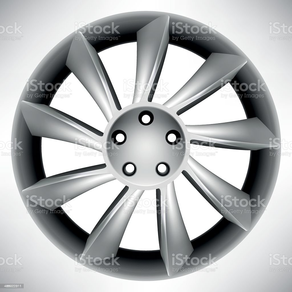 Car rim vector art illustration