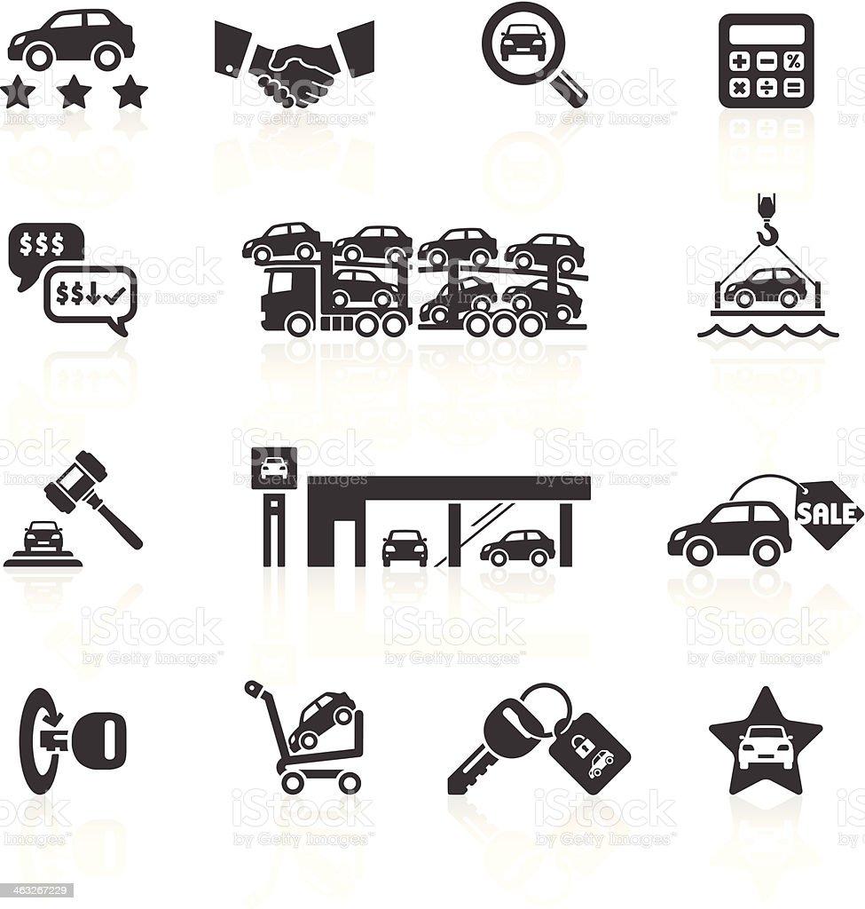 Auto Verkauf & Auto-Autohaus Symbole – Vektorgrafik