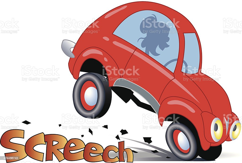 Car Screeching Stop C Stock Vector Art 474456743 Istock