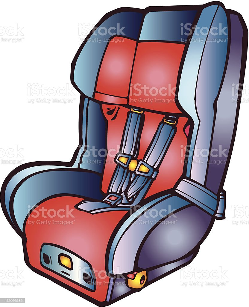 royalty free car seat clip art vector images illustrations istock rh istockphoto com car seat belt clipart car seat cover clipart