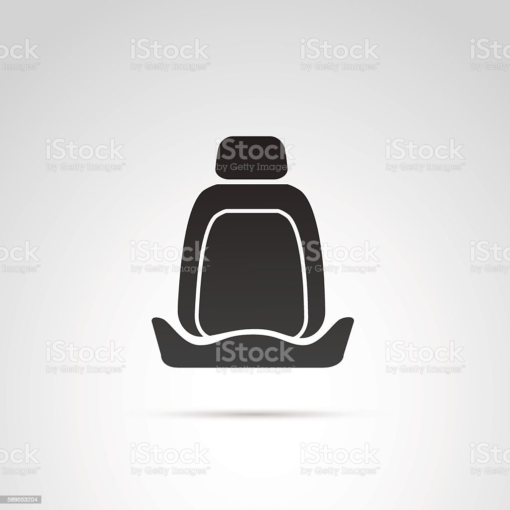 Car seat icon. vector art illustration