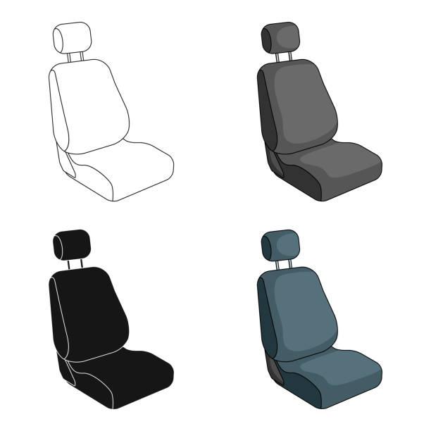 autositz. auto-einzelnes symbol im cartoon stil vektor symbol lager abbildung web. - lederverarbeitung stock-grafiken, -clipart, -cartoons und -symbole
