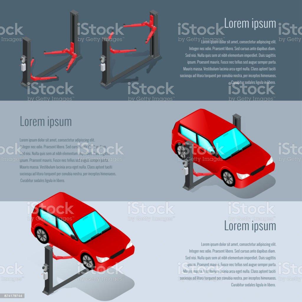 car service 2 vector art illustration