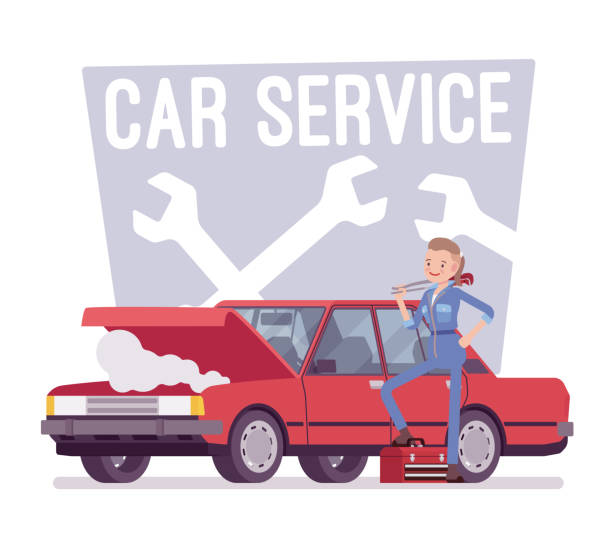 Auto-service-center – Vektorgrafik