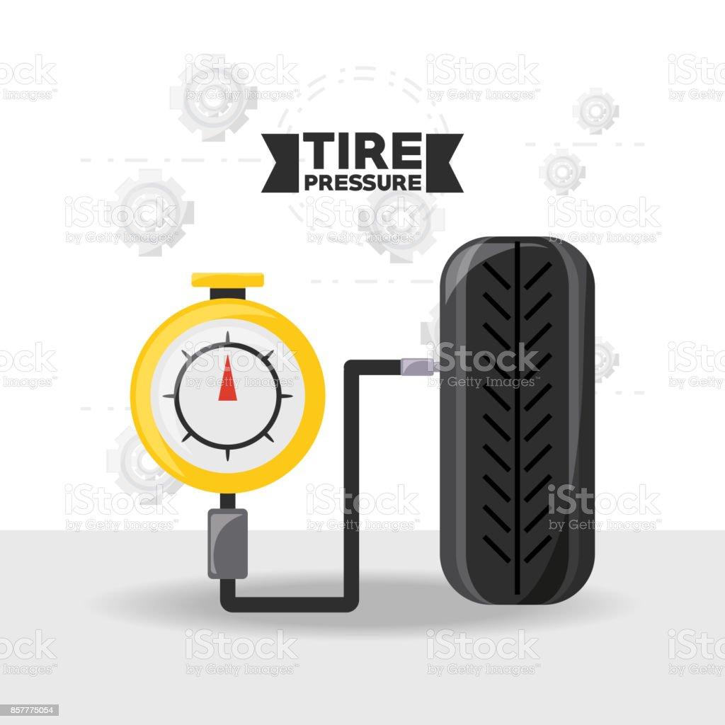 Car service design vector art illustration