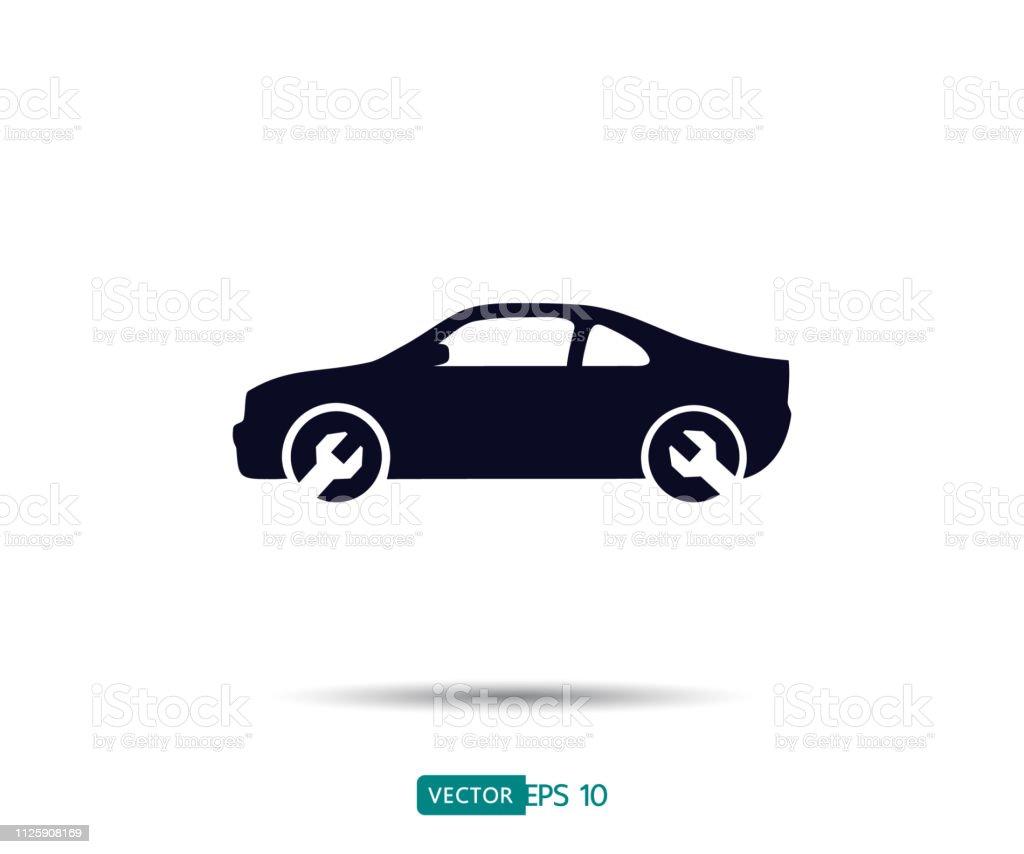 Car Repair And Maintenance >> Car Service Icon Auto Repair Flat Maintenance Logo Design