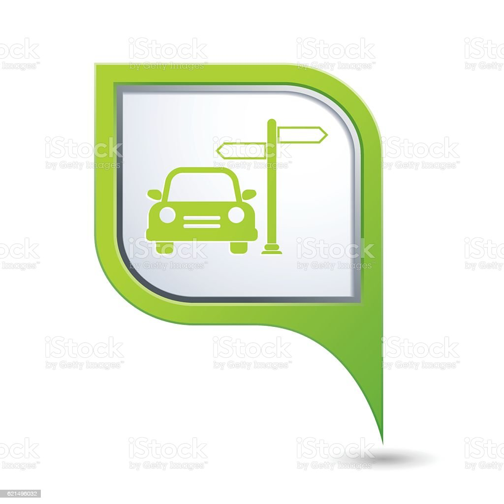 Car service icon on map pointer car service icon on map pointer – cliparts vectoriels et plus d'images de carré - composition libre de droits