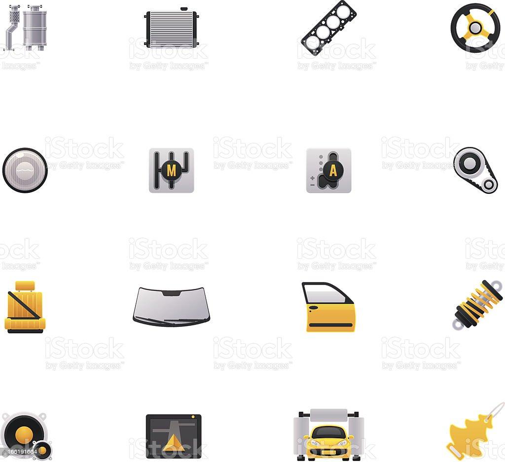 Car service icon set royalty-free stock vector art