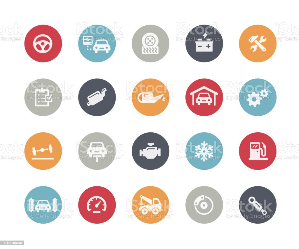 Car Service Icons // Classics vector art illustration