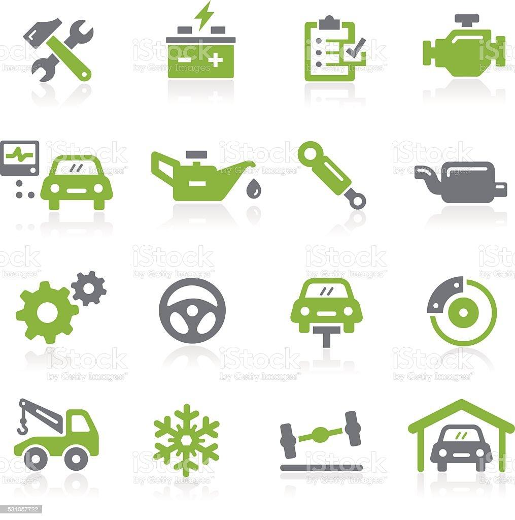 Car Service Icons - Natura Series vector art illustration