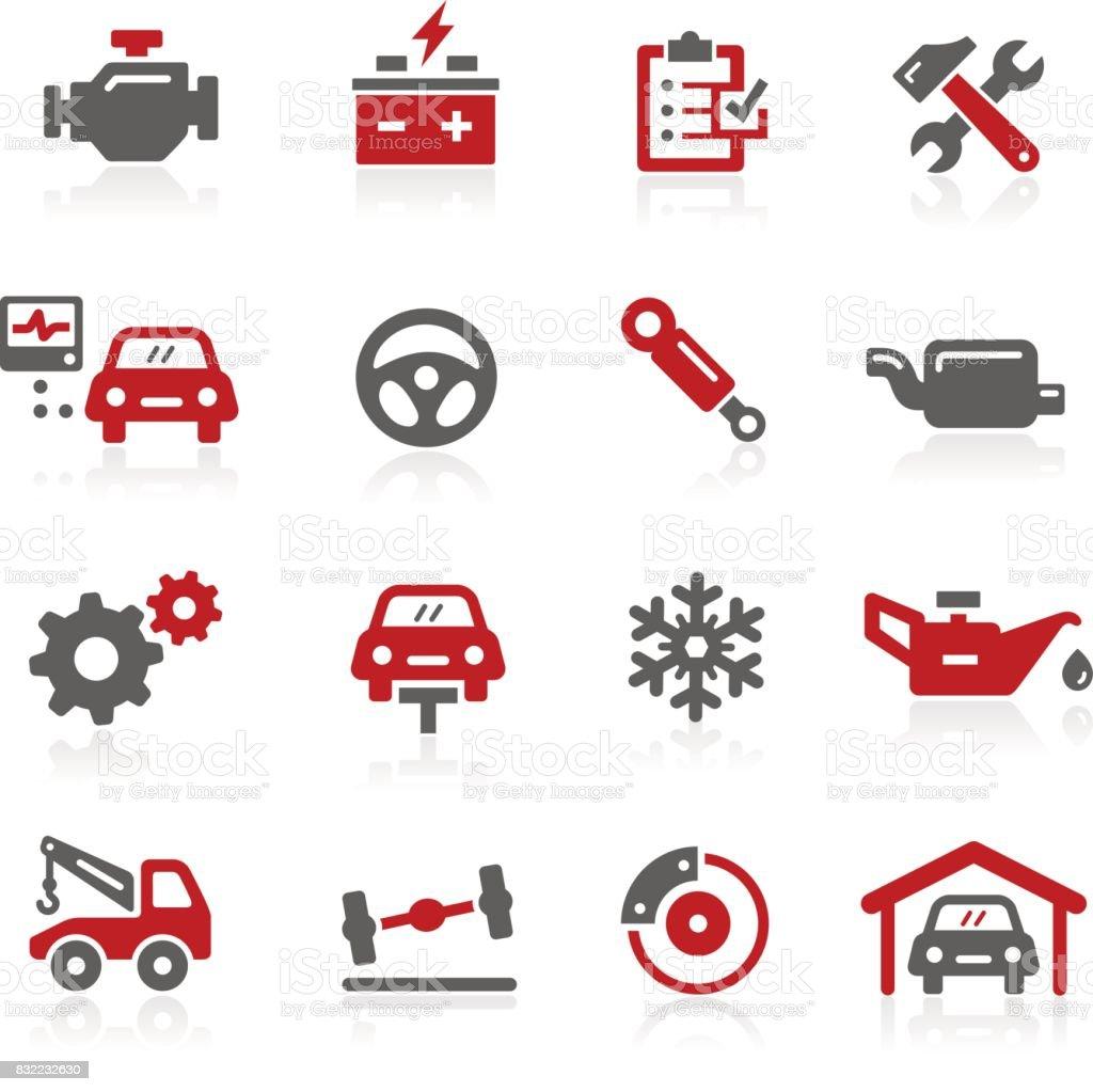 Car Service Icons // Redico Series vector art illustration