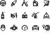 Car service related vector icons for your design and application. Files included: vector EPS, JPG, PNG.