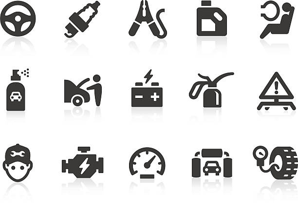 Car Service icons Car service related vector icons for your design and application. Files included: vector EPS, JPG, PNG. boot stock illustrations