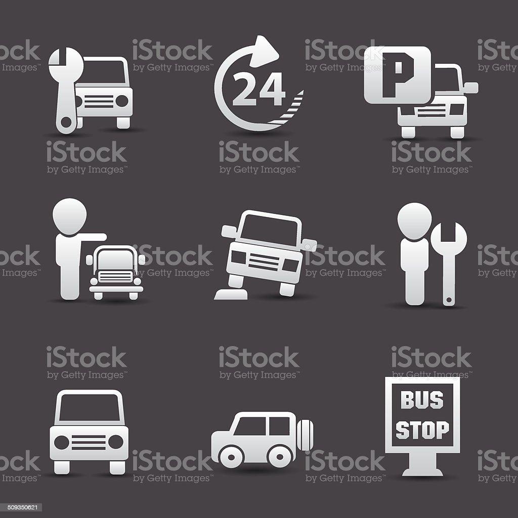 Car service icons,vector royalty-free stock vector art