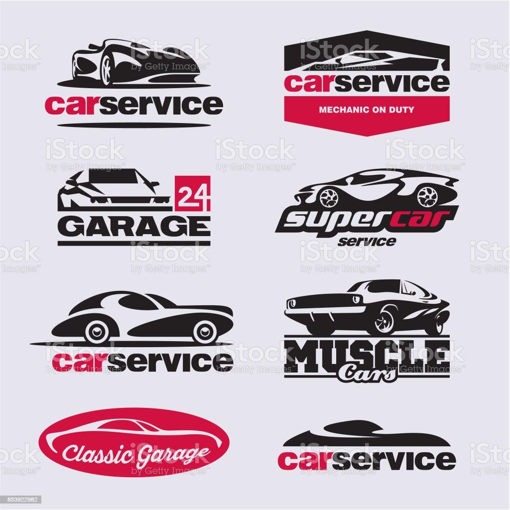 car service labels, garage