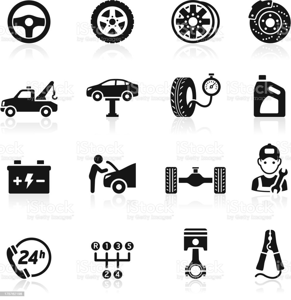 Car service maintenance icon. vector art illustration