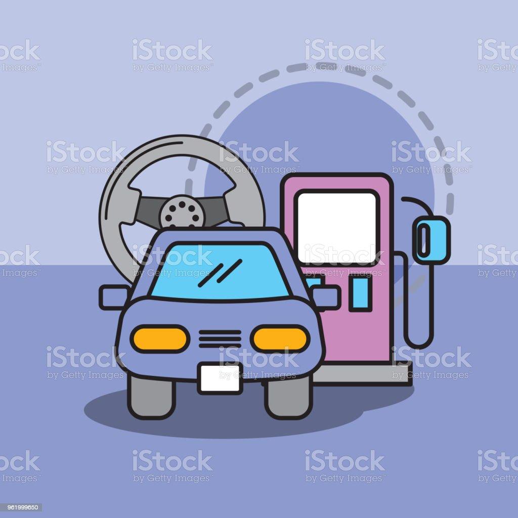 533231b4fd1de1 volant de voiture service entretien et l essence de la pompe volant de  voiture service