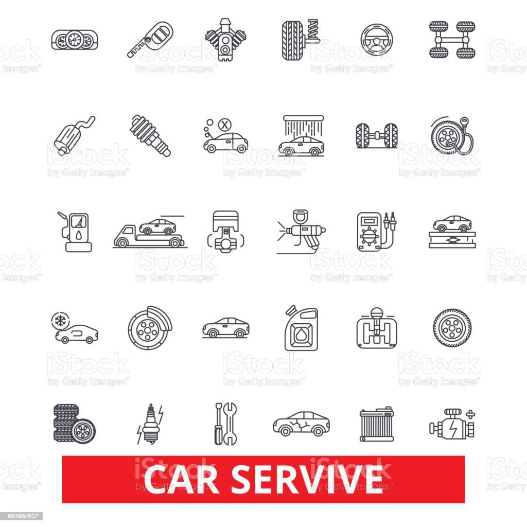 Autoservice Mechaniker Motor Teile Waschen Reifen Shop Ingenieur ...
