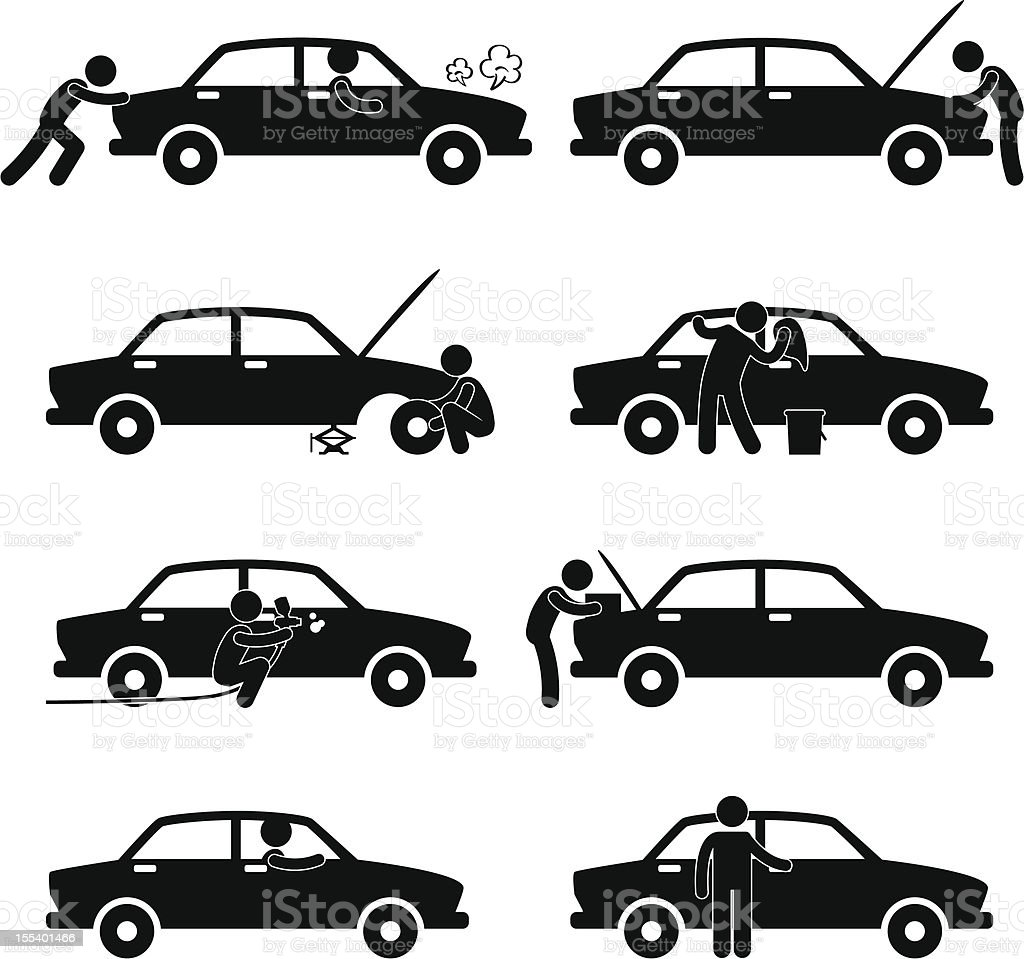 Car Service Pictogram vector art illustration