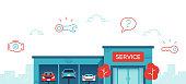istock Car Service Repair Shop Dealership 1290486535