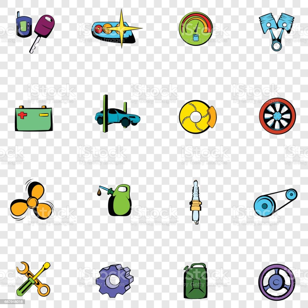 Car service set icons royalty-free car service set icons stock vector art & more images of brake
