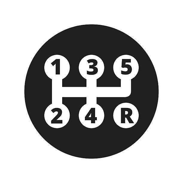 Car service - transmission repair icon vector art illustration