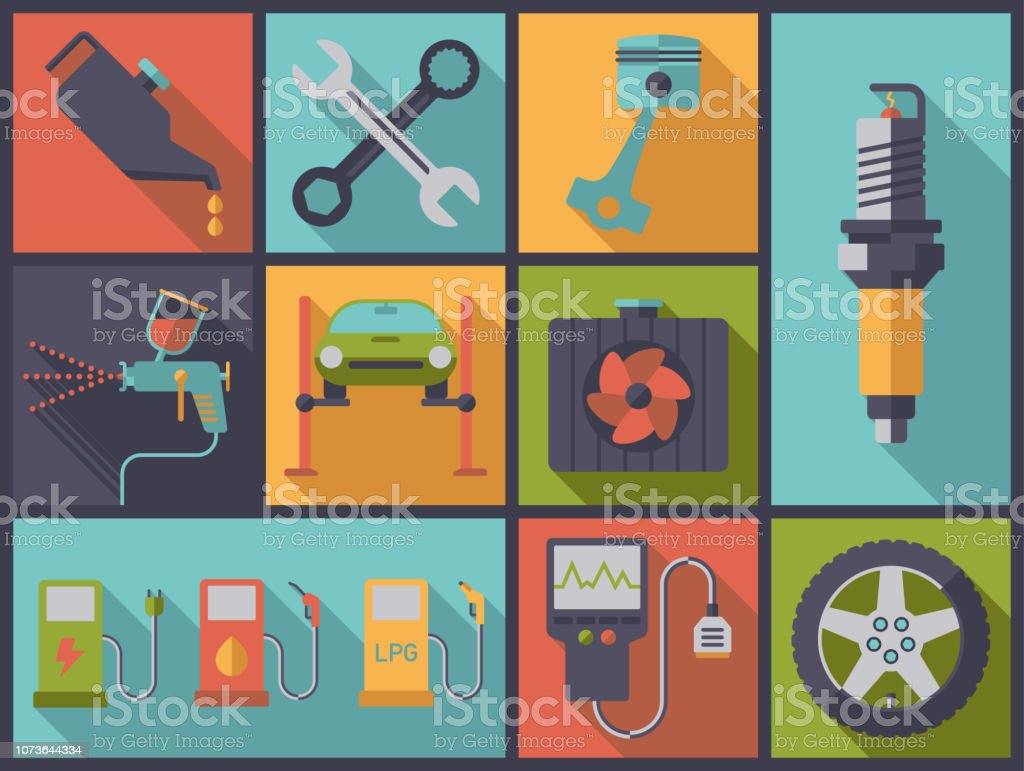 Car services and repair vector illustration. vector art illustration