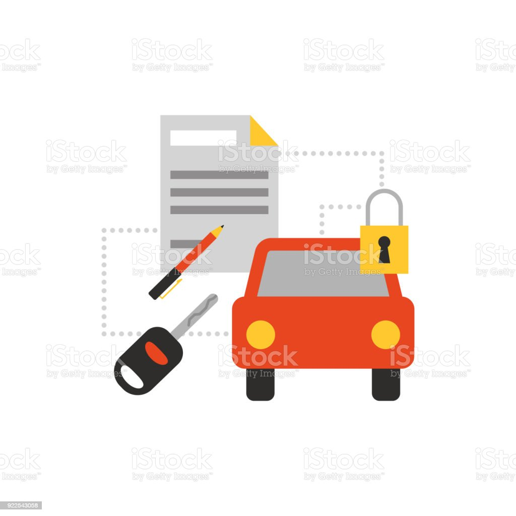 Car services icon vector art illustration