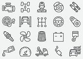 Car Services Line Icons