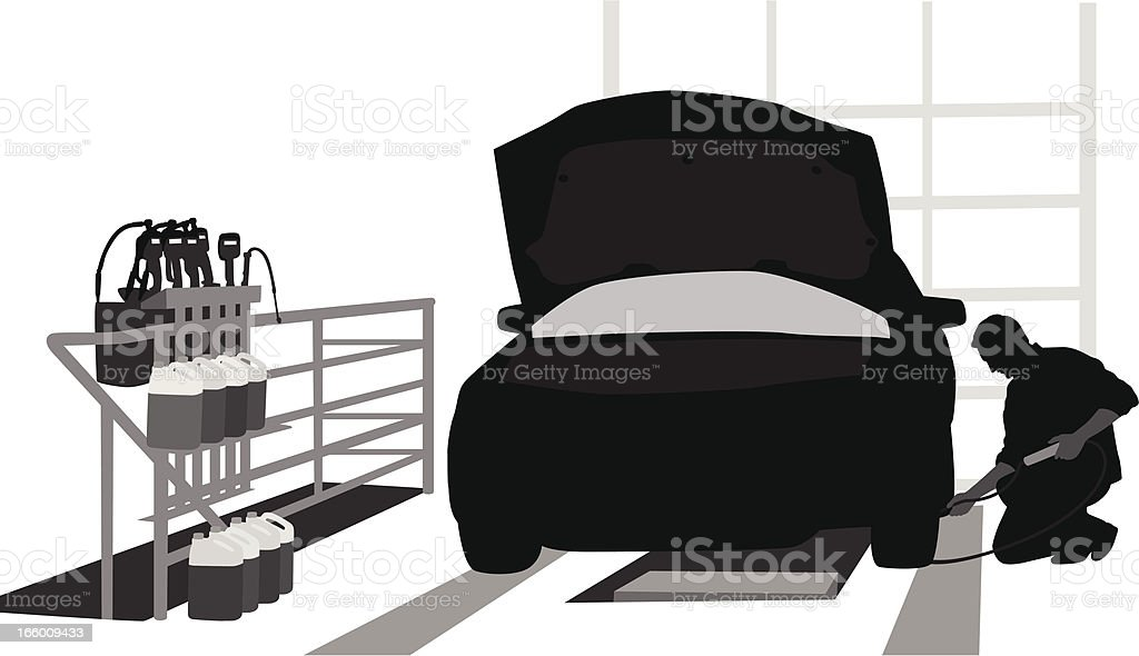 Car Servicing vector art illustration