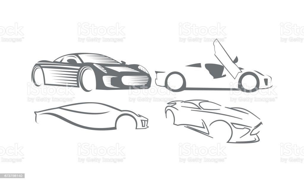 Collections de jeu de données groupé de voiture collections de jeu de données groupé de voiture – cliparts vectoriels et plus d'images de abstrait libre de droits
