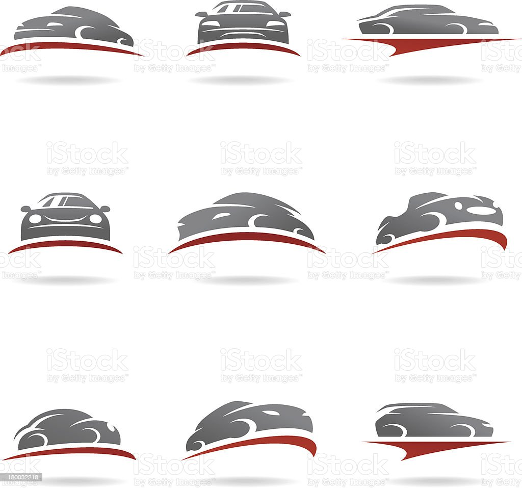 Car set. Vector royalty-free stock vector art