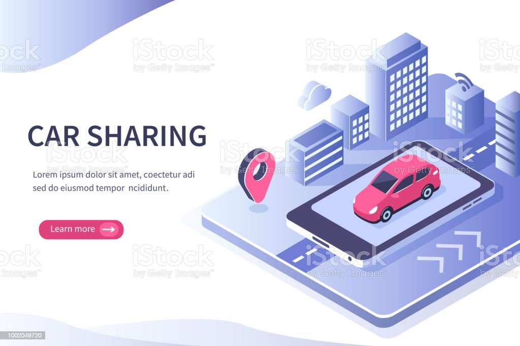 autopartage - Illustration vectorielle