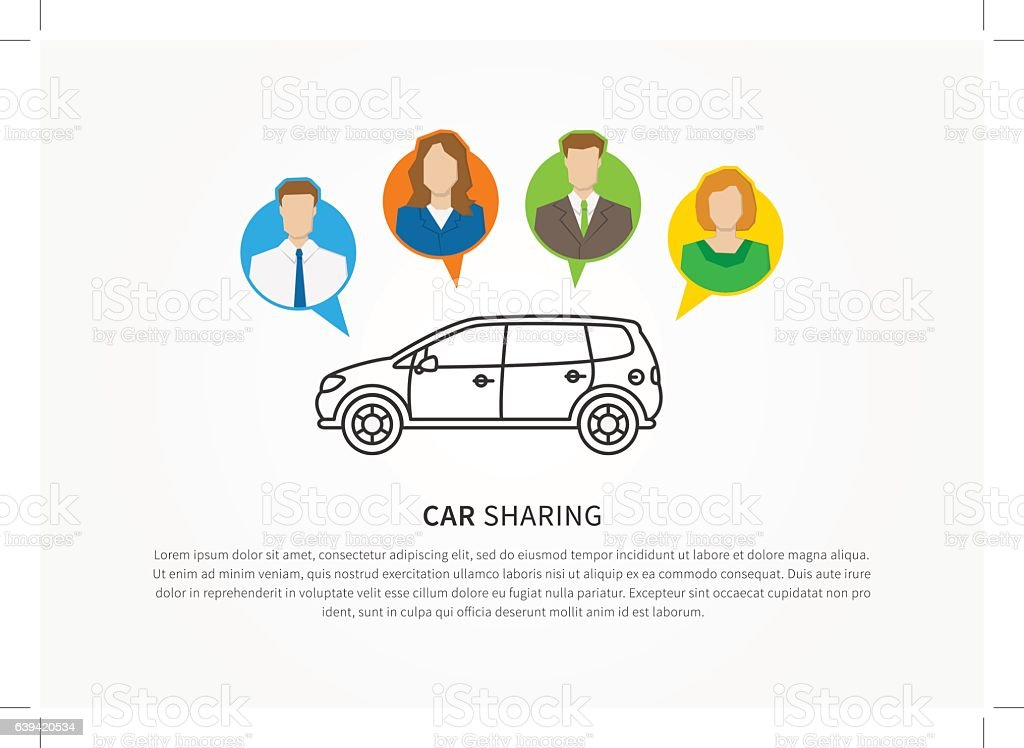 Car sharing vector illustration ベクターアートイラスト