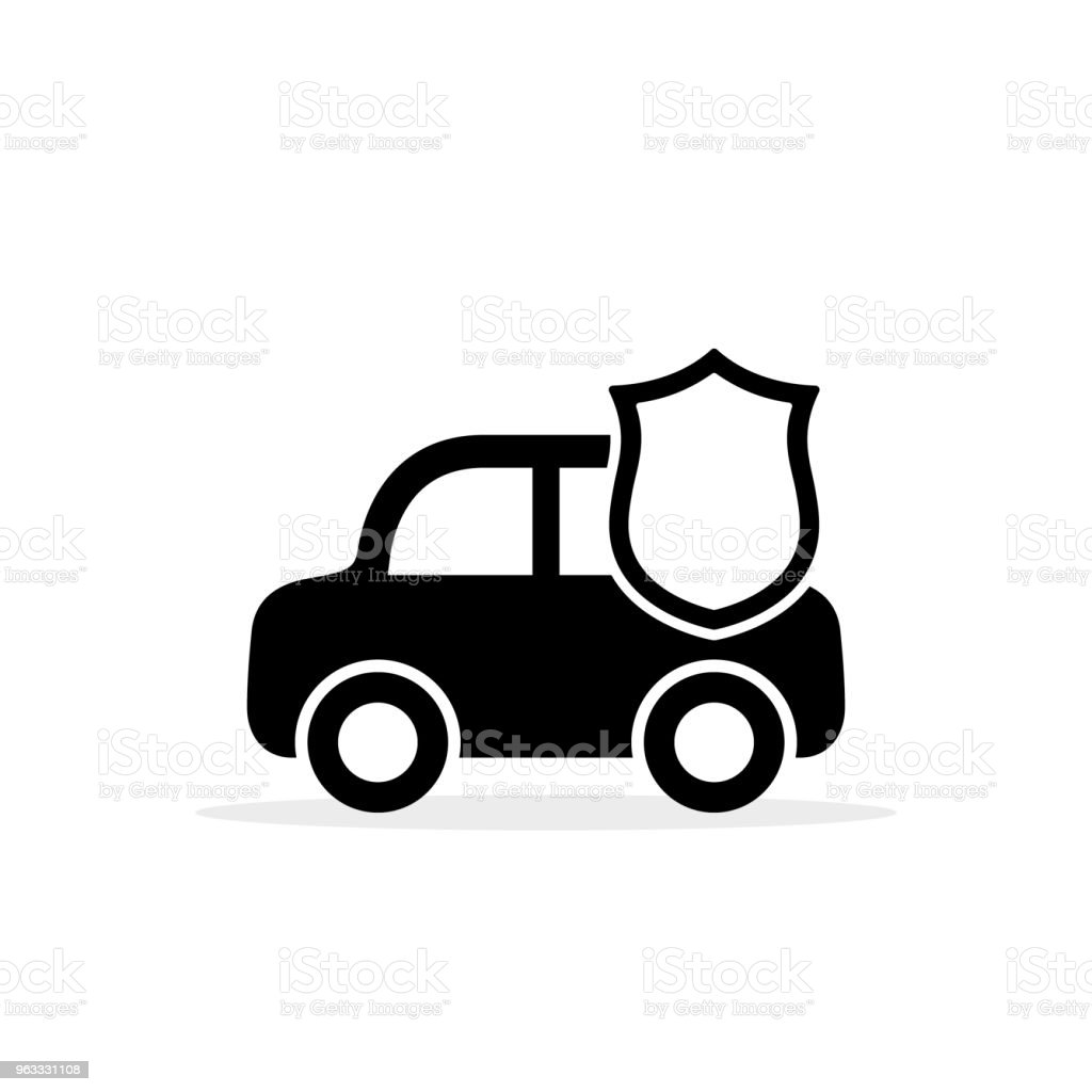 Car shield icon vector flat simple symbol isolated on white