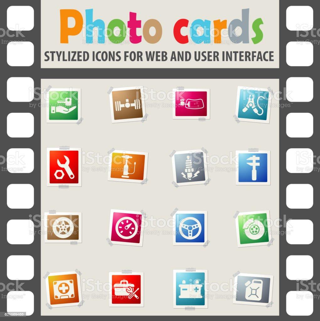 car shop icon set car shop icon set – cliparts vectoriels et plus d'images de bougie libre de droits
