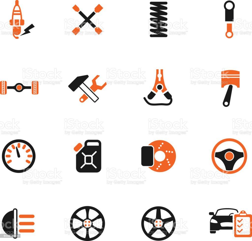 car shop icon set vector art illustration
