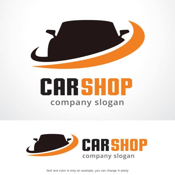 Car Shop Symbol Template Design Vector, Emblem, Design Concept, Creative Symbol, Icon This design suitable for symbol, emblem or icon.  automobile industry stock illustrations