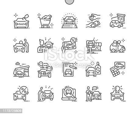 istock Car shop Well-crafted Pixel Perfect Vector Thin Line Icons 30 2x Grid for Web Graphics and Apps. Simple Minimal Pictogram 1173725809