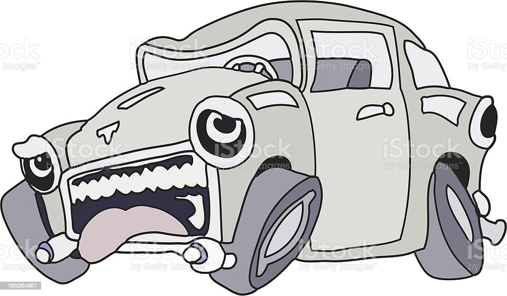 Car sick royalty-free stock vector art